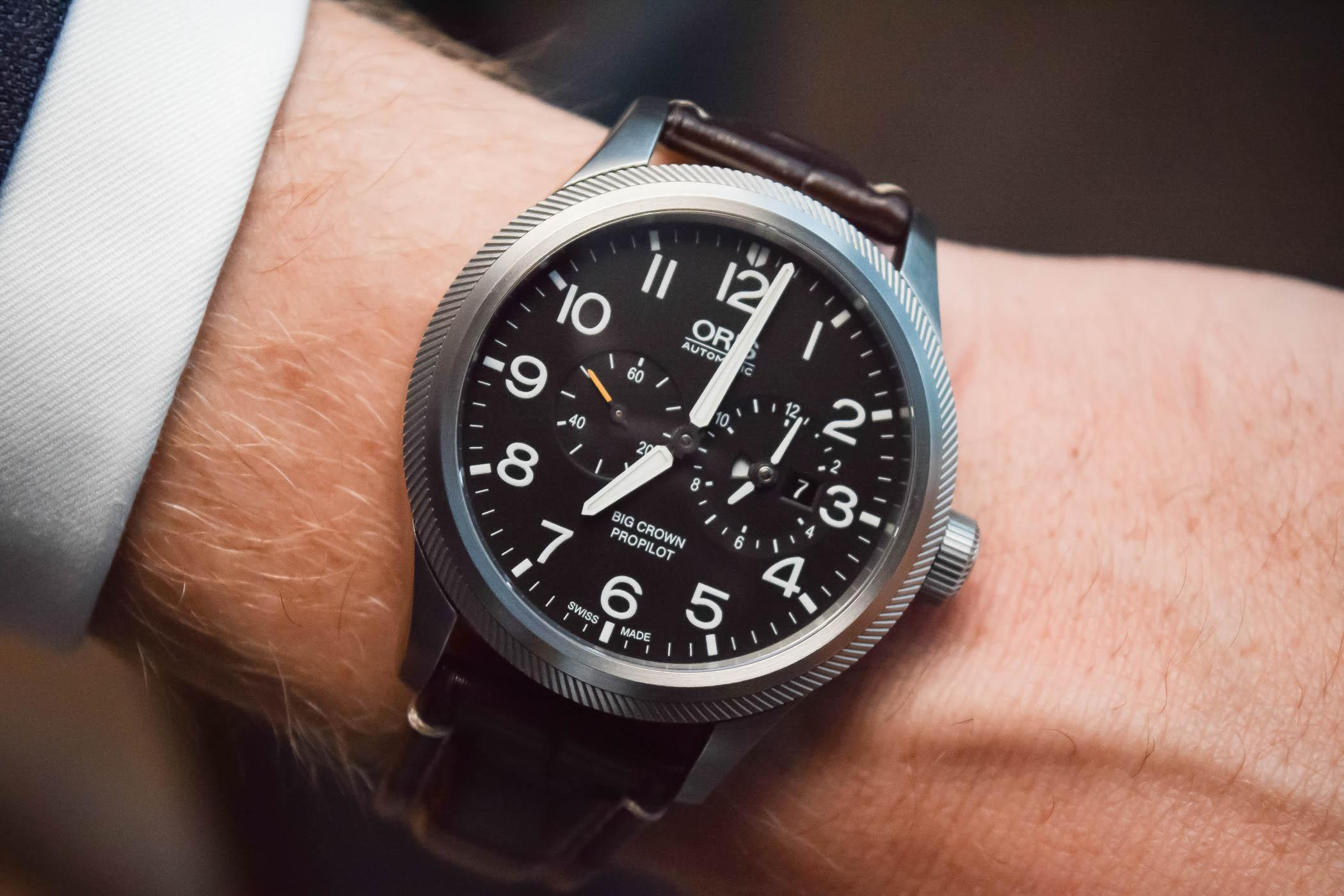 Oris Big Crown ProPilot Worldtimer, With Clever Bezel-Actuated Dual-Time Function (Hands-On with Price)